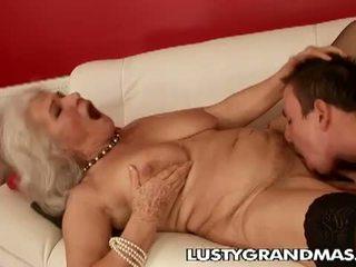 おばあちゃん, rimjob, 毛深い陰部