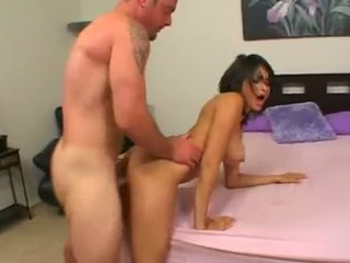 Horny Spanish Adrianna Faust gets her pussy shagged hard by a huge boner
