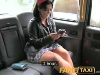 Faketaxi london cabbie arse fucks espanhola passenger