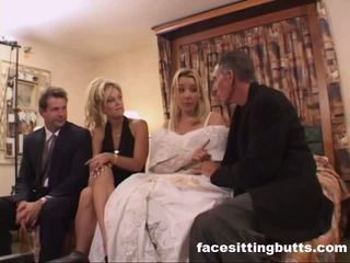 Bride-to-be got en otäck facial, fria facesitting butts porr video-