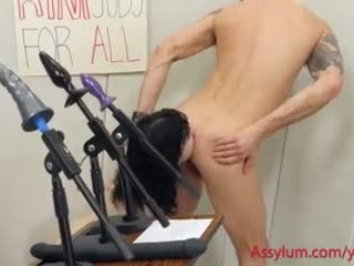 Rimjobs for All! -- goth mental patient runs for asslicking office
