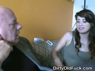 Cutie Pie Latina Teen Sucking Off Dirty Old Man
