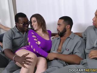 Sara jay gets ganbanged mukaan musta dudes