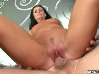Shagging sensuous honey india summers sits her taut pink coochie onto a throbbing pole