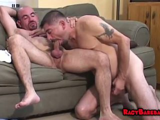 Hot and hairy barebacking couple