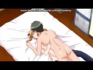 Animen tonårs flicka fabrikat kul fan i säng