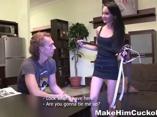 Making him a helpless cuckold - Porn Video 681