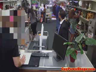 Mature otter fucks hunky pawnbroker for cash