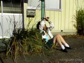 Azijke šolarka shows poraščeni kurba