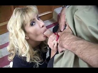Blonde Mature MILF with Big Tits in Th...