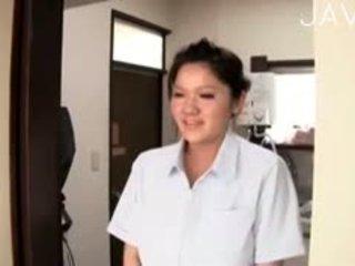 japonais, gros seins, massage