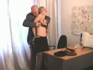 dievča, ruský, officer