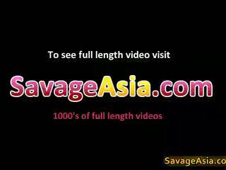 섹시한 아시아의 비탄 stripping