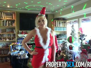 PropertySex - Home buyer gets busty British escort as house warming gift