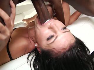 Brutální mezirasový anální gangbang, volný vysoká rozlišením porno f3