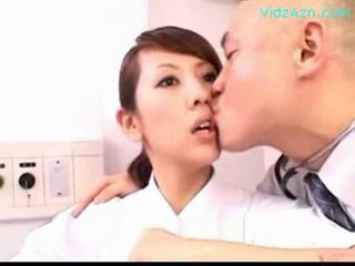 Moveless nurse getting her mouth fucked by doctor on the hos
