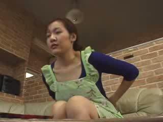 Japans lonely mam masturbate in livingroom video-