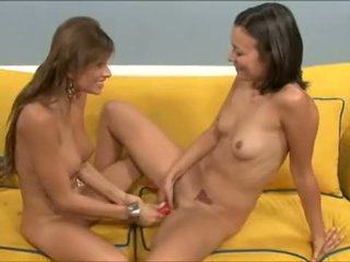 Sexy Lesbians Play With Bodies And Enjoy Together