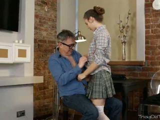 Tricky starý učitel - nastya s plán na flirting