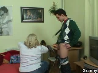 A pleasant surprise for huge granny