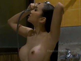 tắm, nóng, châu á