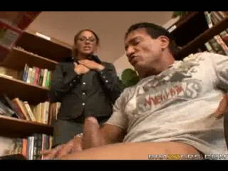 Sexy Librarian slammed by Big dick in big Anal
