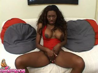 Hawt Ebony Nyomi Banxxx Takes A Throbbing White Shlong In This Chabr Slippery Mouth