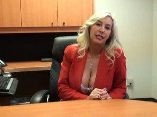 Nóng bé fucked lược tại công việc phỏng vấn video