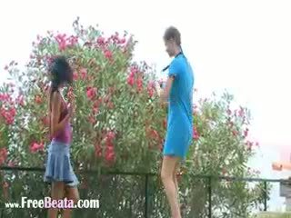 blowjob, threesome, outdoor