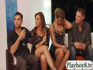 Married people swinging and group sex in Playboy mansion