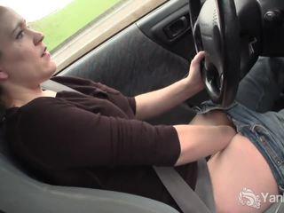 Seksi lou driving ve rubbing onu yüksek topuklar seçki
