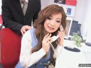 horký bruneta plný, japonec, sledovat výstřik ideální