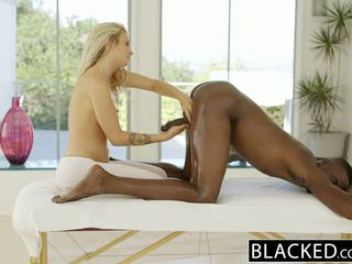 Blacked ब्यूटिफुल ब्लोंड karla kush loves massaging bbc