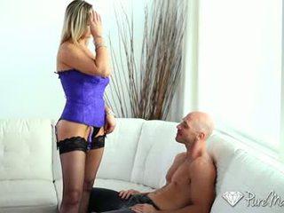 sexo oral completo, vajinal ver, caucasiano