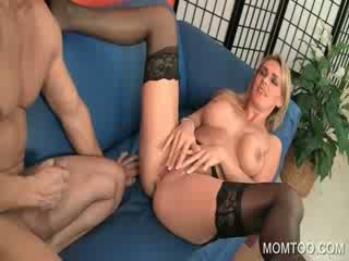 Mom in Limo getting puss fingered