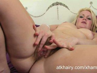 Hairy amateur British blonde Claire en...