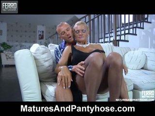 Sultry Upskirt Milf Lured Inside Chuf Cramming Thru Her Sheer To Waist Hose