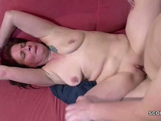 German Mom Show His Step-son how to Fu...
