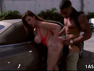 Avto pranje s debeli rit zreli sara jay