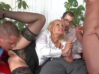 group sex, milfs, facials