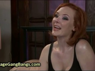 Redhead In Bondage Double Penetrated