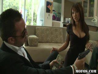 Asiática porno female tastes la cosa