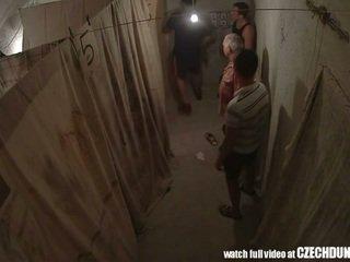 Shocking shots від eastern європейська underground brothel