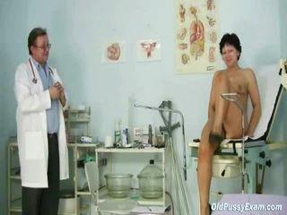 Older Donna Eva Visits Gyno Doctor To Have Gyno Examined