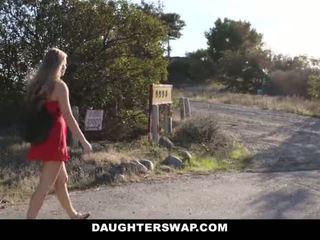DaughterSwap - Hot Little Blonde Caught Webcamming By BFFS Dad Pt.2