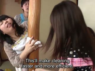 Subtitled اليابانية risky جنس مع voluptuous أم في