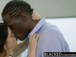 Blacked britanke žena ava dalush loves velika črno tič!