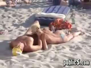 voyeur, strand, blowjob