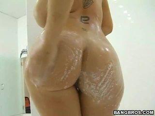 жорстке порно, великі цицьки, душ