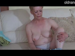 anciano, abuelita, masturbación